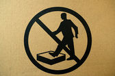 No stepping on surface warning sign — Foto de Stock