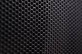 Griglia dell'altoparlante metallo protettivo nero — Foto Stock