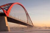 Bridge on the River Ob — Stock Photo