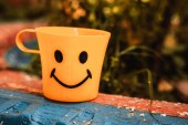 Mug with a smile — Stock Photo