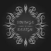 Ornamental vintage emblem or label. — Stock Vector