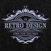 Emblème Vintage, rerto design. — Vecteur