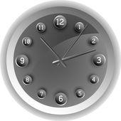 Analog clock. The original design. — Stock Vector