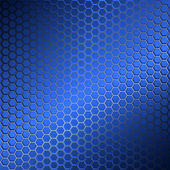 Background with metal grid of hexagons. — Stockvektor
