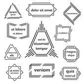 Set of geometric emblem. — Stock Vector