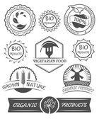 Conjunto de placas orgánicas y las etiquetas. — Vector de stock