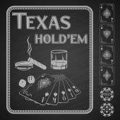 Texas Hold em poker. Vector illustration. — Stock Photo