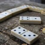 Old domino game — Stock Photo #60932743