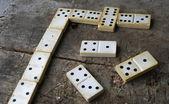 Old domino game — Stok fotoğraf