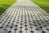 Tiles with lawn — Zdjęcie stockowe