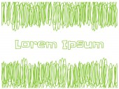 Scribble green lines for copy text on white background — Stock vektor