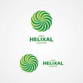 Abstract helix vector logo — Stock Vector