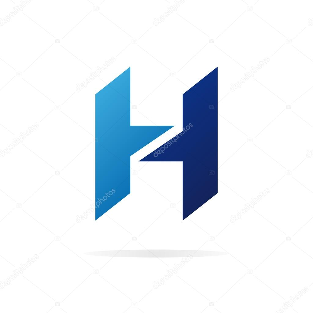 logo h letter for company vector design template � stock