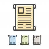 Vector diploma or scroll logo — Stock Vector