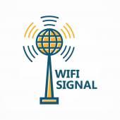 Antenna tower icon or logo — Stock Vector