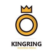 Royal ring logo or icon — Stock Vector
