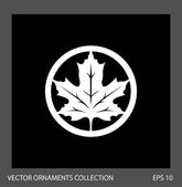 Maple leaf ornament illustration. — Vecteur