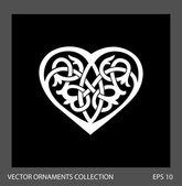 Heart ornament illustration. — Stock Vector