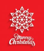 Snowflake Ornament Merry Christmas Poster. — Stock Vector