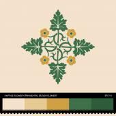 Vintage Flower ornamental design element — Stock Vector