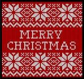 Christmas ornamental pattern — Stock Vector