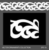 Seamless ornament border pattern. — Vettoriale Stock