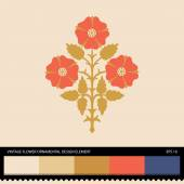 Vintage Flower ornamental design element — Stock Vector
