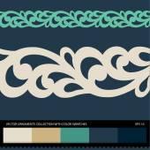 Seamless ornament border pattern. — Stock Vector