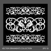 Abstract Birds ornament illustration. — Stock Vector
