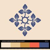 Vintage floral ornamental design element — Stock Vector
