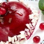 Raspberry cranberry cake — Stock Photo #67585923