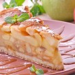 Slice Of Apple Pie on a plate — Stock Photo #67586071