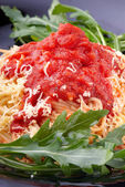 Spagetti with traditional sauce — Stock Photo