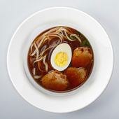 China Soup On white round dish — Stock Photo