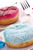 Sweet colorful donuts — Stock Photo