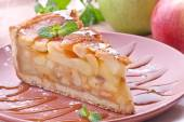 Slice Of Apple Pie on a plate — Stock Photo