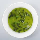 Soup On white round dish — Fotografia Stock