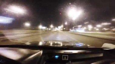 Illumination of the bridge — Stock Video