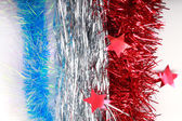 Flag of France from Christmas tinsel — Stock Photo