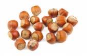 Handful of hazelnuts — Stock Photo