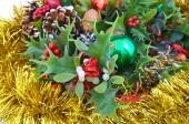 Christmas decoration on white background. — Stock Photo
