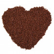 Heart shape formed with chocolate sprinkles isolated on white background. Love concept. Valentines Day concept. — Stock Photo #63849605