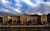 Front view of the University of Deusto in Bilbao, Biscay, Basque Country, Spain — Stock Photo