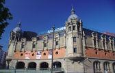 BILBAO, SPAIN, MAY 28, 2015: View of Azkuna Zentroa, Alhondiga, in Bilbao, Bizkaia, Spain — Stock Photo