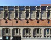 BILBAO, SPAIN, MAY 28, 2015: View of Azkuna Zentroa, Alhondiga. Building by Ricardo Bastida and Philippe Starck in Bilbao, Bizkaia, Basque Country, Spain — Stock Photo