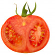 Tomato slice isolated on white background, top view — Stock Photo #78965456
