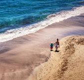 Walk on the coast — Stock Photo