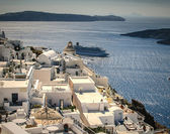 White city on Santorini — 图库照片