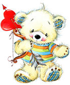 Valentine day. Teddy bear.background for congratulation festive — Stockfoto