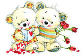 Valentine day. Teddy bear.background for congratulation festive — Stock Photo
